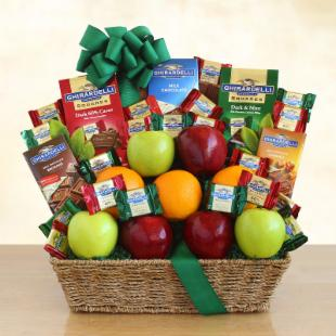 Ghirardelli and Fruit Festival Gift Basket