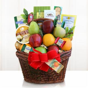 Fruitful Greetings Gift Basket