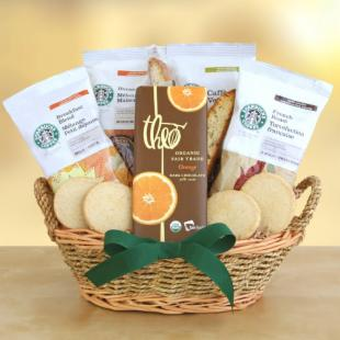 Starbucks Greetings Basket Gift Basket