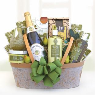 Soothing Organic Olive Oil Spa & Gourmet Gift Basket
