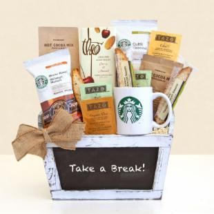 Take a Break with Starbucks Gift Basket