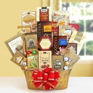 Shimmering Season's Greetings Gift Basket