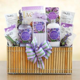 Fields of Lavender Valentine Spa Gift Basket