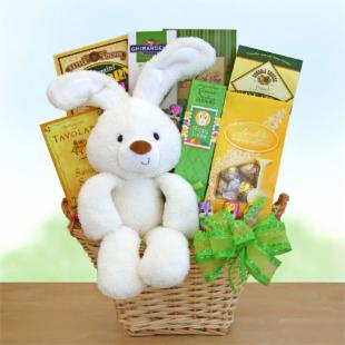 Huggable Hoppy Greetings Gift Basket