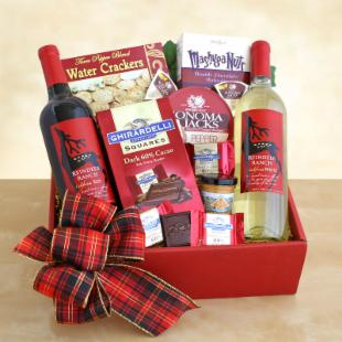 Holiday Wine and Cheese Gift Box