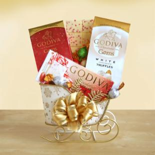 Holiday Godiva Sleigh Gift Set