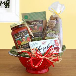 Organic Italian Feast Gift Basket