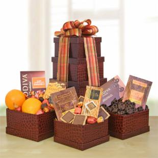 Fall Godiva &amp; Fruit Tower