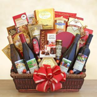 California Ultimate Gourmet & Wine Gift Basket