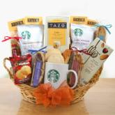 Starbucks Coffee and Tea Delights Gift Basket