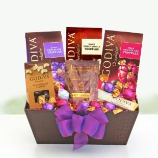 Godiva Love & Kisses Gift Basket