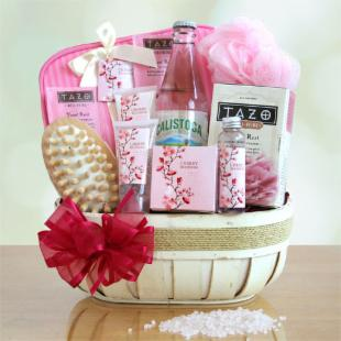 Valentine&#39;s Sweet Scents of Cherry Blossom Gift Basket