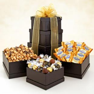 Ebony Chocolate Gift Tower