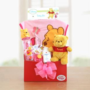 Winnie the Pooh Baby Girl Welcome Gift Box