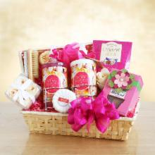 Pretty & Pink Mimosa Spa Gift Basket