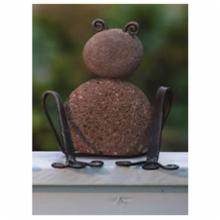  Ancient Graffiti Sitting Frogs Stone And Metal Outdoor Sculpture