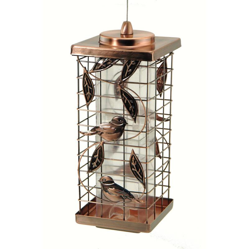 Wood Link Caged Tube Feeder