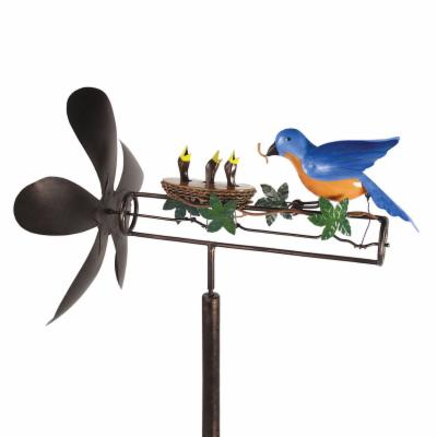 Bluebird Mama and Baby Whirligig