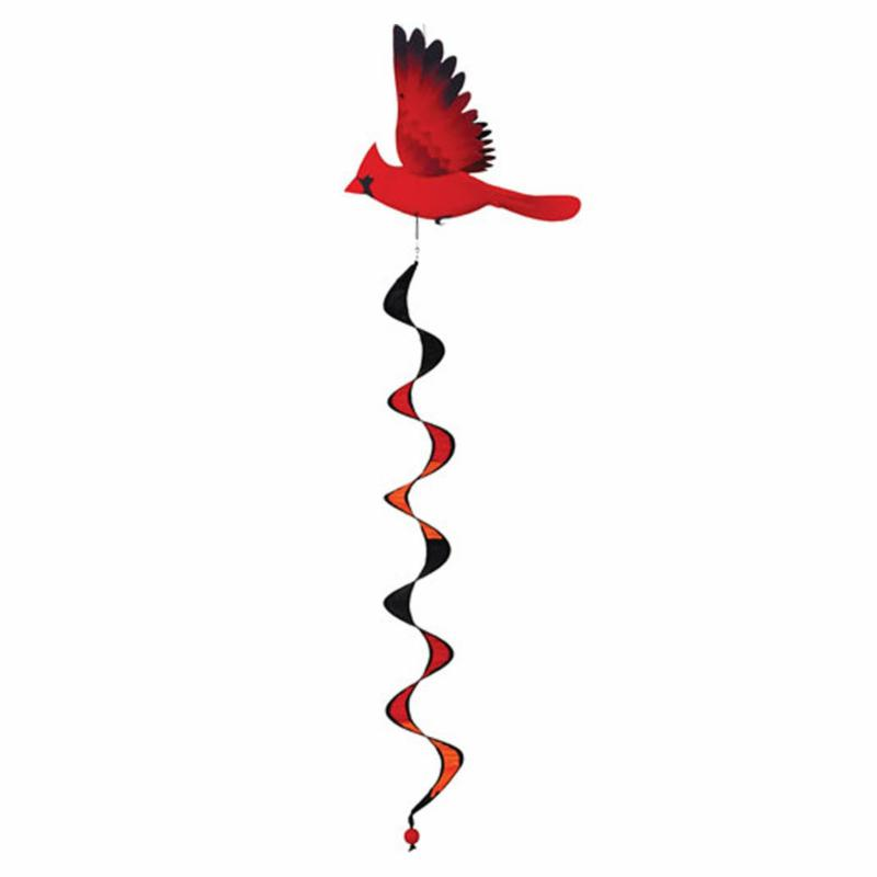 Premier designs north american cardinal wind spinner for Garden spinners by premier designs