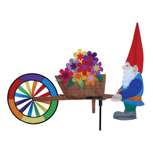 Premier designs gnome wheel barrow spinner wind for Garden spinners by premier designs