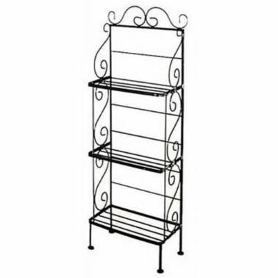 3 Shelf Medium Scrolls Bakers Rack