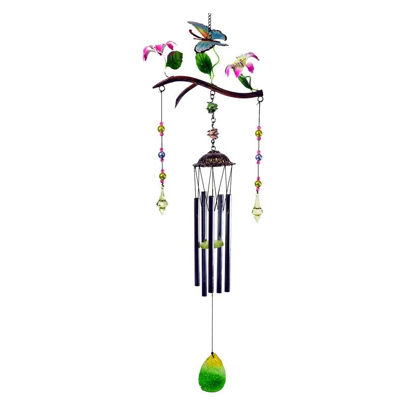 Great World Butterfly Poly Resin Branch Wind Chime GREI198-1