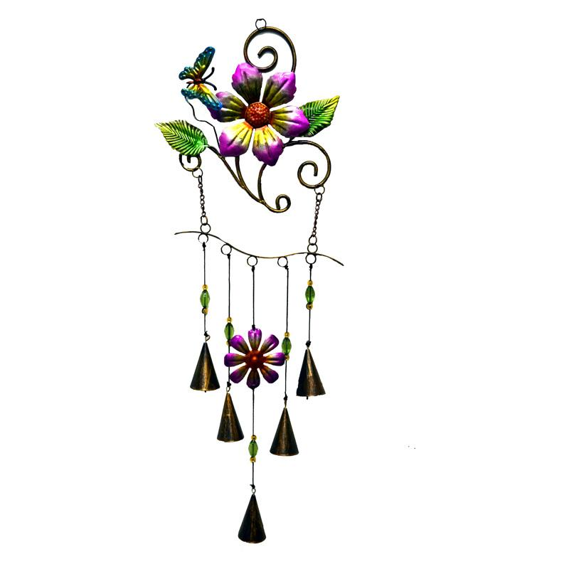 Great World Butterfly Flower Metal Hanger Wind Chime GREI349-1