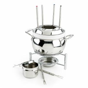 All-Clad Stainless Steel Fondue Pot with Ceramic Insert