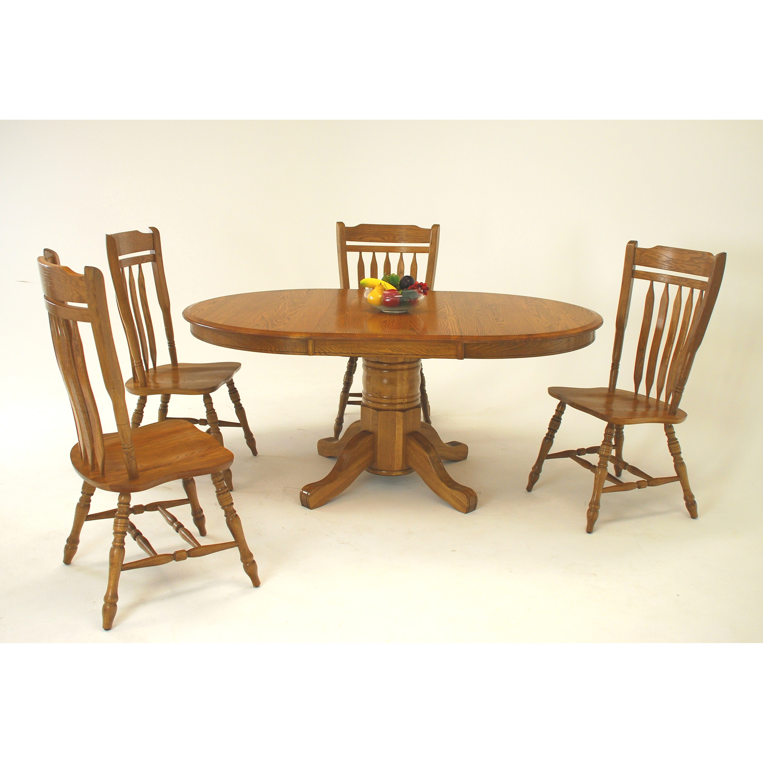 Classic solid wood 42 inch round pedestal dining table at for 42 inch round dining table