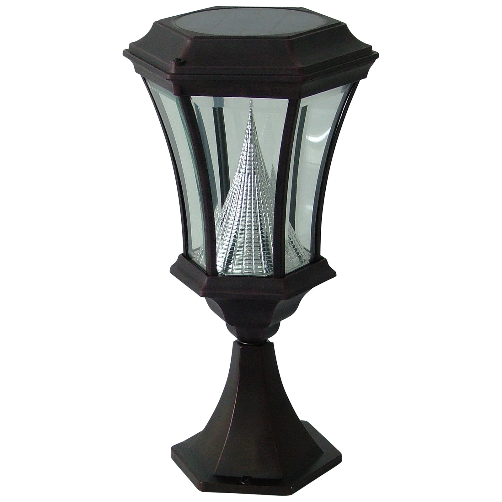 gama sonic solar patio lamp at hayneedle. Black Bedroom Furniture Sets. Home Design Ideas
