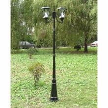  Gama Sonic Victorian Double Solar Lamp Post - Black