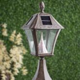  Gama Sonic Baytown Solar Post Mount Solar Lamp