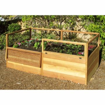 Gardens to Gro 3 x 6 ft. Raised Vegetable Garden Bed with Hinged Fencing - Do Not Use