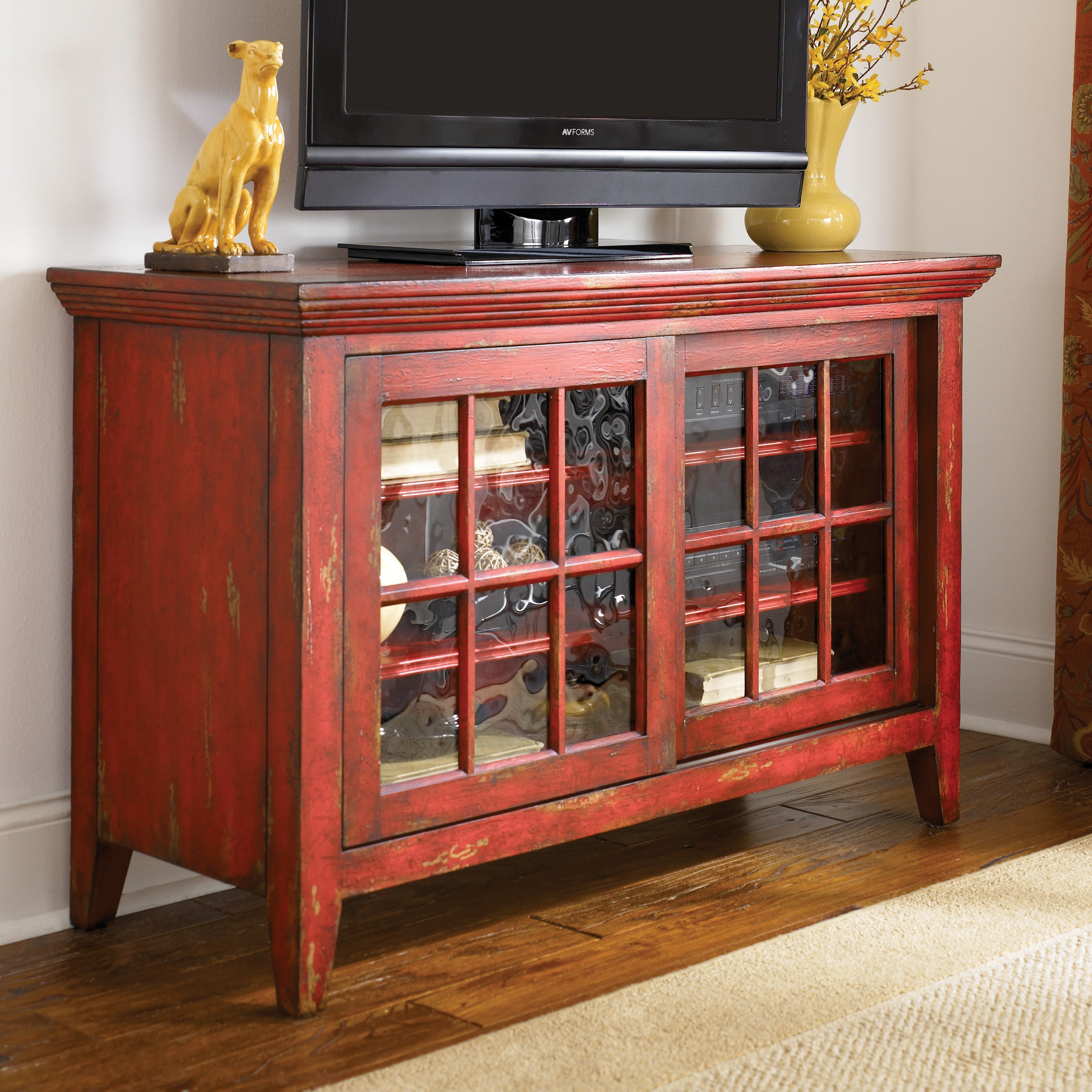Hammary Hidden Treasures Red Entertainment Console Tv Stands At Hayneedle