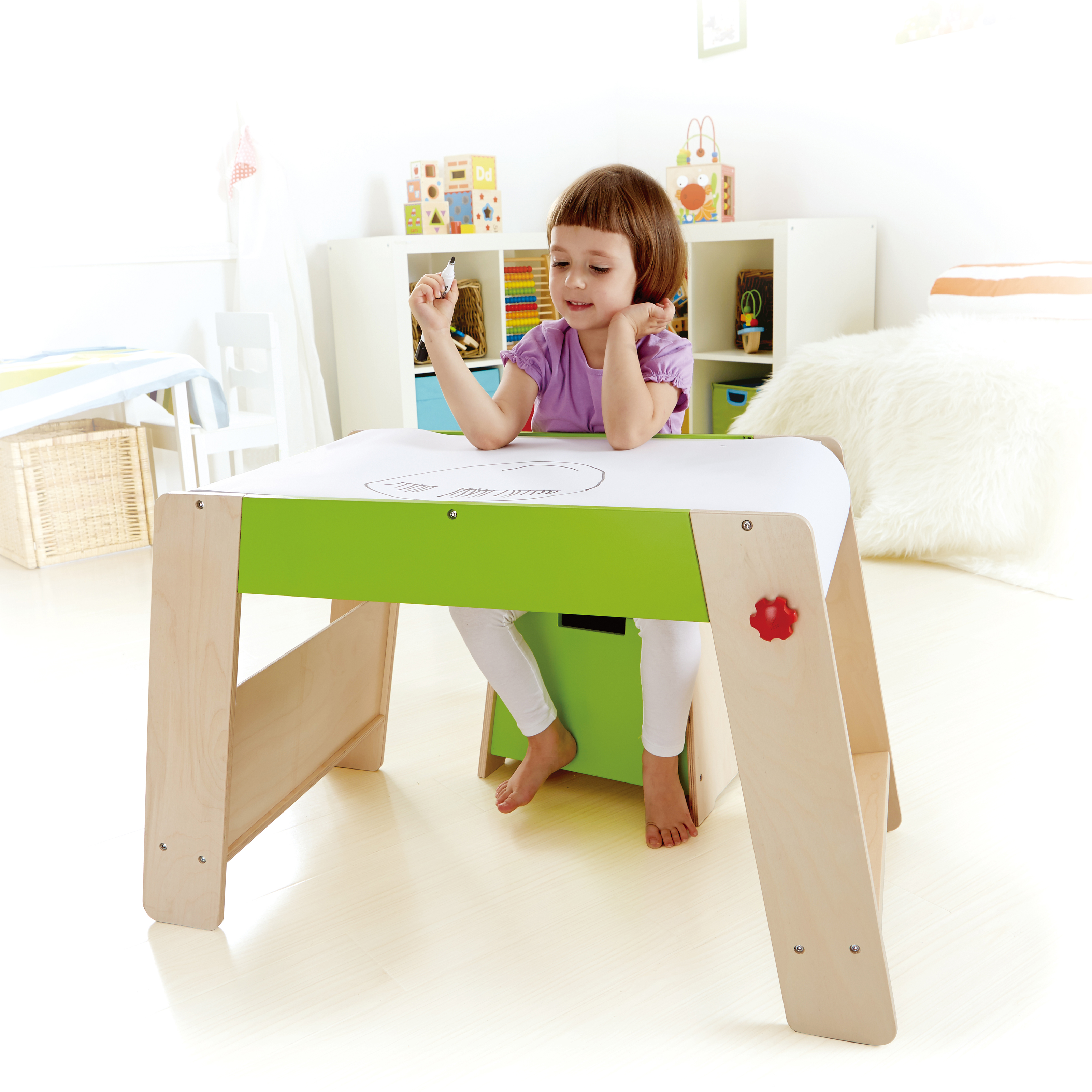 Good Kids Art Table With Paper Roll Hd9h19 Tjihome