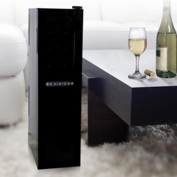  Haier HVTSM18DABB 18-Bottle Dual Zone Tower Wine Cellar