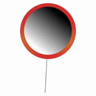 Lolly Pop Mirror - Sunset Orange - 23 diam.in.