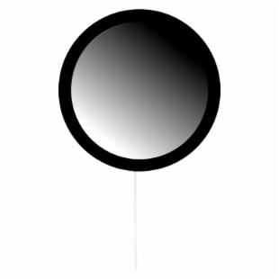 Lolly Pop Mirror - Licorice Black - 23 diam.in.