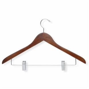 Cherry Basic Suit Hanger with Clips - Set of 12