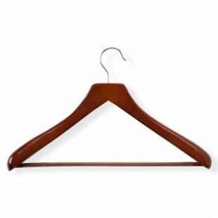 Honey Can Do Deluxe Contoured Suit Hangers with Non-Slip Bar - Set of 2
