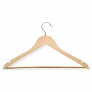 Honey Can Do Basic Suit Hangers with Non-Slip Bar - Set of 8