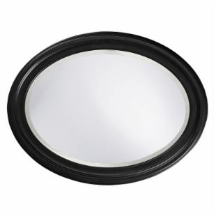 George Wall Mirror - Black - 25W x 33H in.