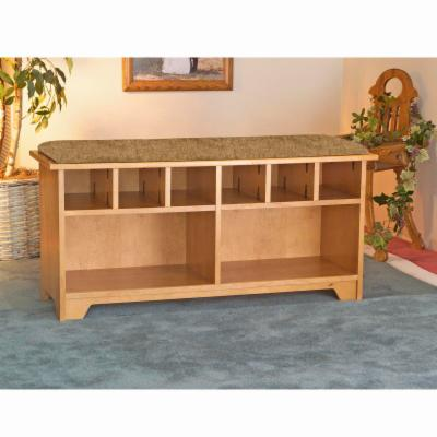 Quad Cubby Storage Bench