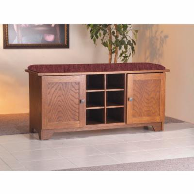 Stash Cubby Storage Bench with Doors