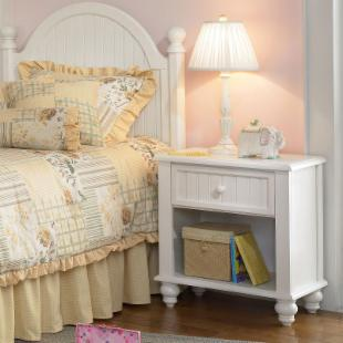 Hillsdale Westfield Cottage White Nightstand