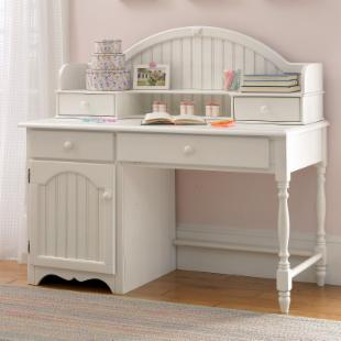 Westfield Cottage White Desk with Optional Hutch