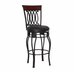 Hillsdale 30-Inch Montello Swivel Bar Stool - Black