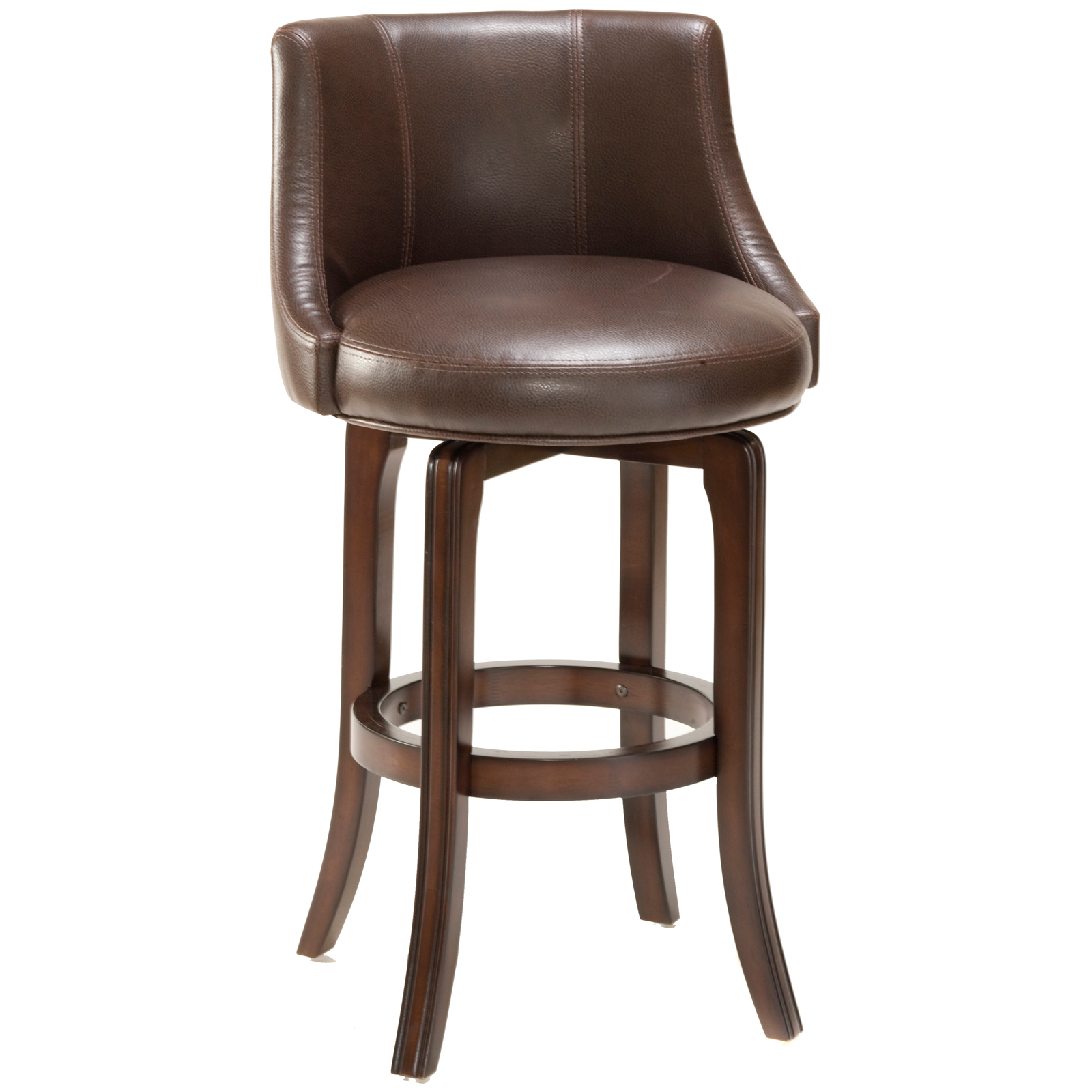 Hillsdale Napa Valley 25 In Swivel Counter Stool Brown Leather Seat At Hayneedle