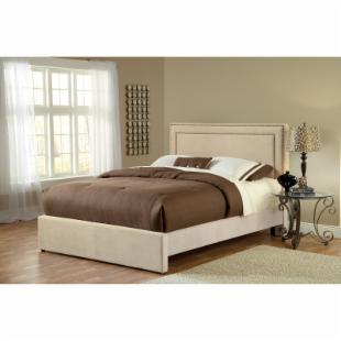 Amber Upholstered Bed - Buckwheat