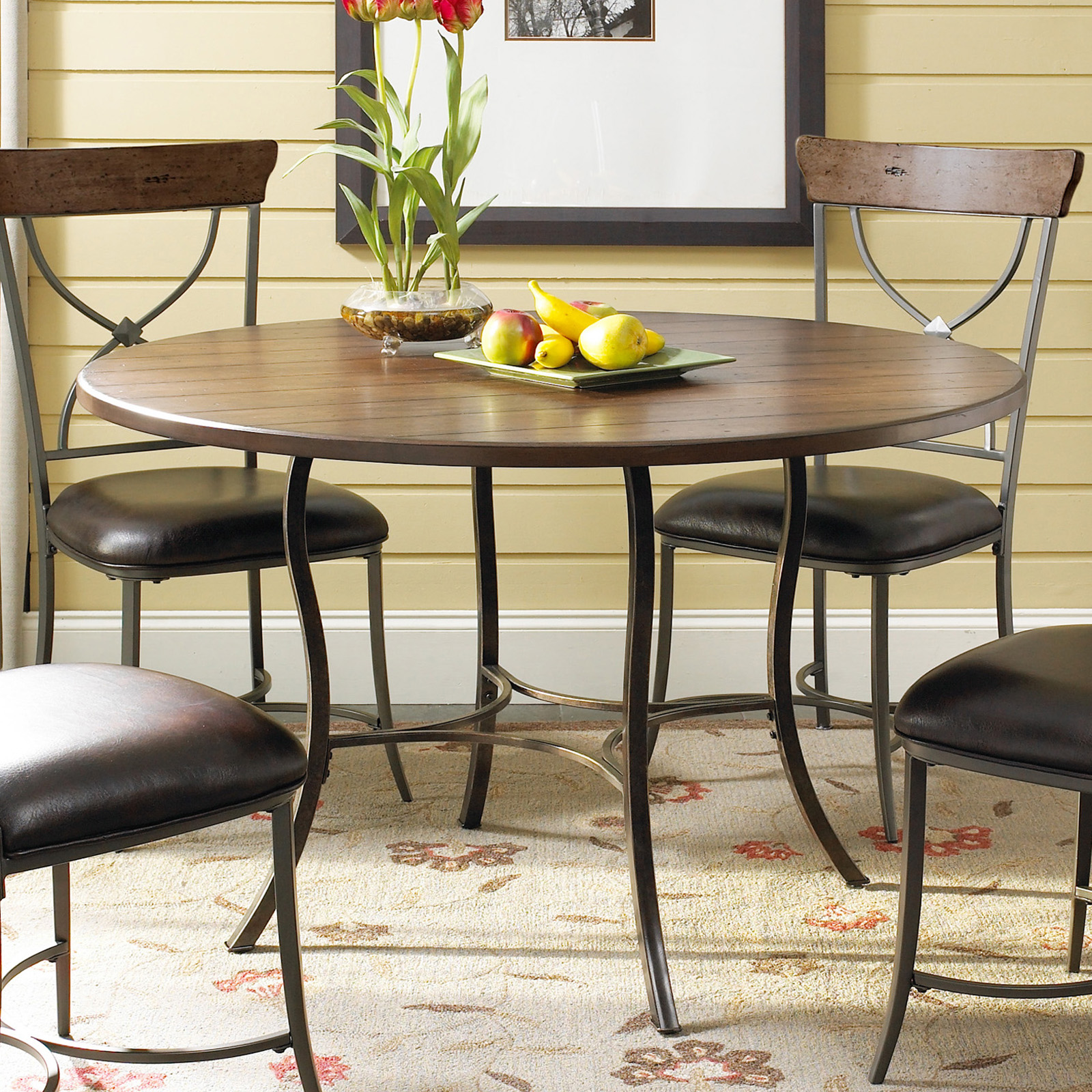 Wood And Metal Dining Table Set With X Back Chairs Dining Table Sets. Full resolution‎  file, nominally Width 1600 Height 1600 pixels, file with #B5A316.